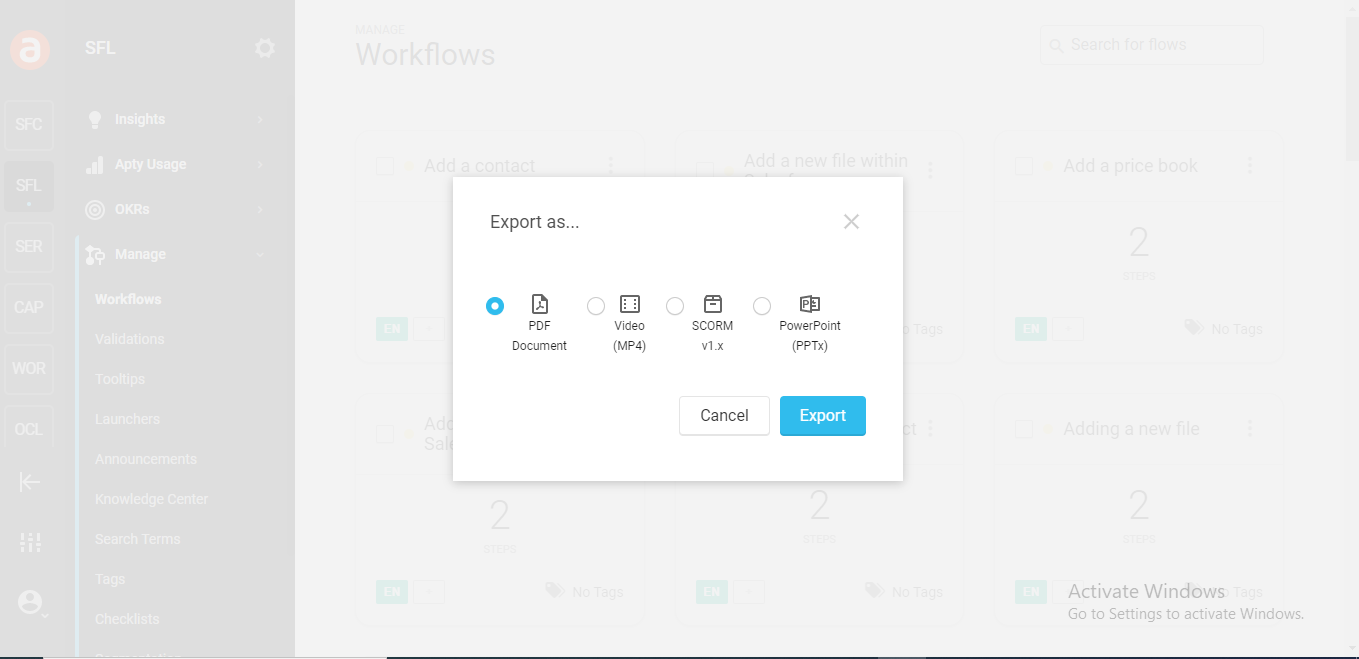 Export File in Any format