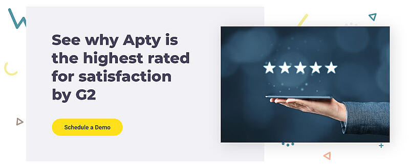 See why Apty is the highest rated for satisfaction by G2