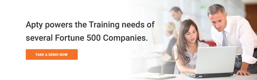 Apty powers the Training needs of several Fortune 500 Companies.
