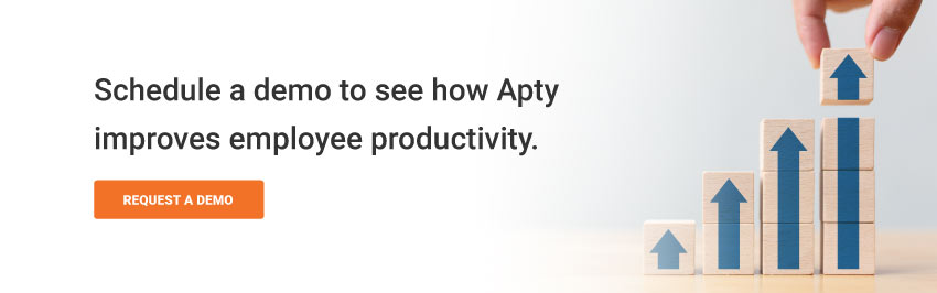 Schedule a demo to see how Apty improves employee productivity.