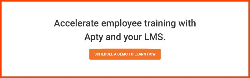 Accelerate employee training with Apty and your LMS.