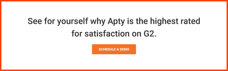 Schedule a demo to see why Apty is the highest rated for satisfaction on G2.