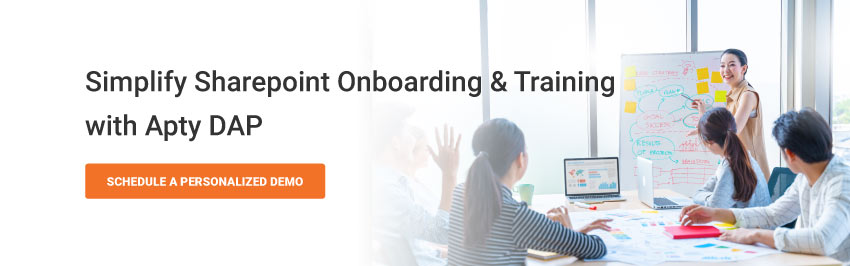Simplify Sharepoint Onboarding & Training with Apty DAP