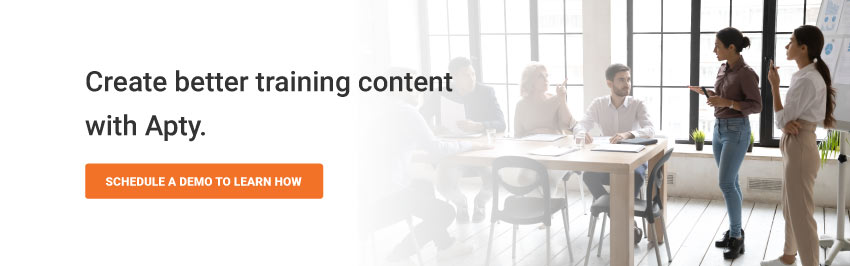 Create better training content with Apty.
