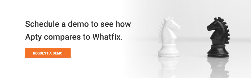 Schedule a demo to see how Apty compares to Whatfix.