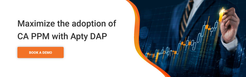 Maximize the adoption of CA PPM with Apty DAP